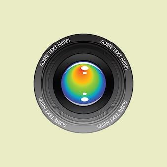 Lente de la cámara fotográfica