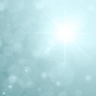 Lente destello de luz y resplandor efecto bokeh vector