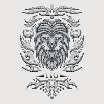 Leo zodiac vintage