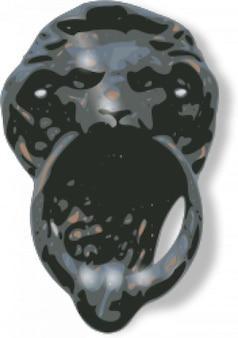 León de cara aldaba