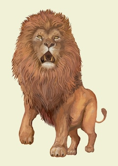 León dibujado a mano