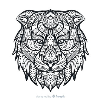 León estilo mandala