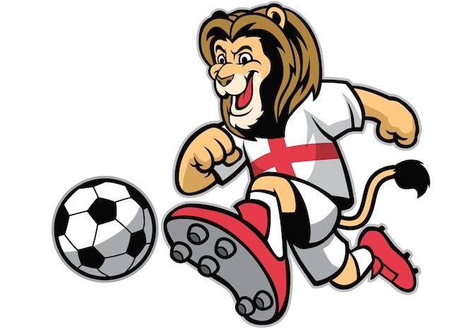 León jugando fútbol