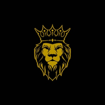 León con logo de corona