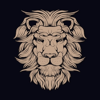 León marrón