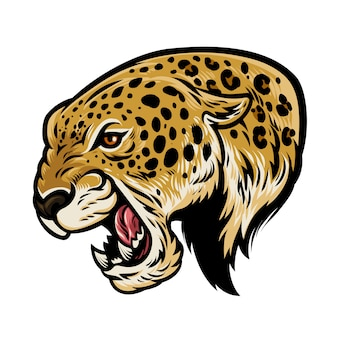 Leopardo agresivo enojado