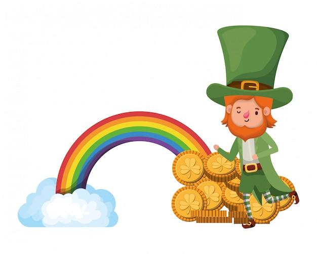 Leprechaun con el personaje del avatar del arco iris