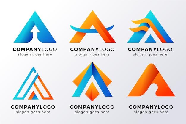 Letra alfabética de una colección de logotipos