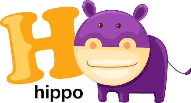 Letra del alfabeto animal - h