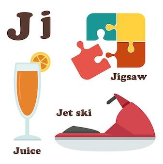Letra del alfabeto j