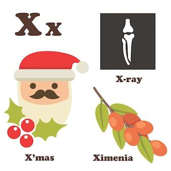 Letra del alfabeto x
