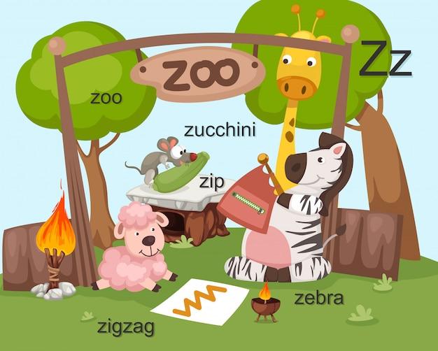 Letra del alfabeto z