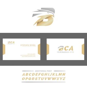 Letra b eagle head logo