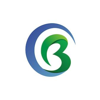 Letra c y b logo vector