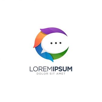 Letra c chat logotipo