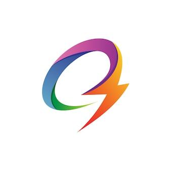 Letra c thunder logo vector