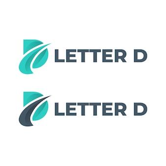 Letra d logo vector plantilla de diseño