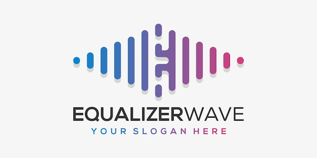 Letra e con pulso. elemento de acorde. plantilla de logotipo música electrónica, ecualizador, tienda, música dj, discoteca, discoteca.