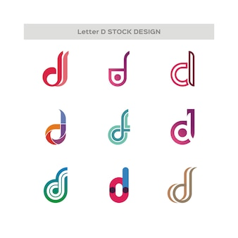 Letra e stock design logotipo