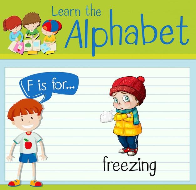 La letra f de la flashcard es para congelar