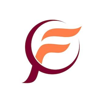 Letra f initial logo