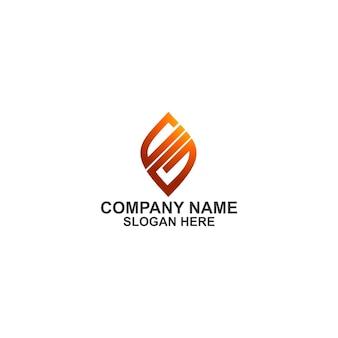 Letra inicial cg shield logo premium