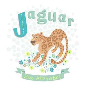 Letra j - ilustración jaguar
