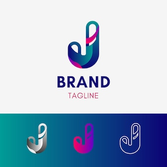 Letra j logotipo redondeado