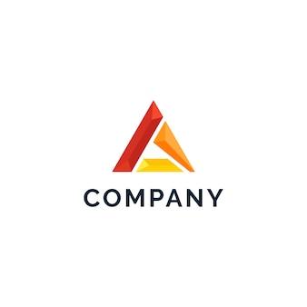 Letra a logo abstracto