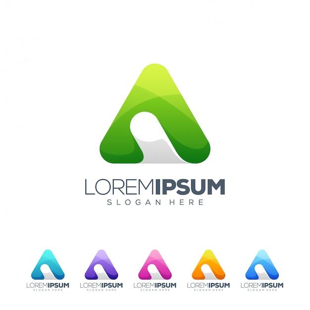 Letra a logo diseño ilustrador vectorial