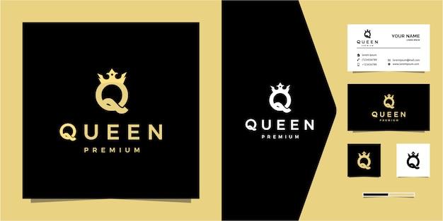 Letra de lujo q o logotipo de la reina