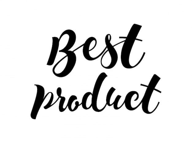 Letra del mejor producto