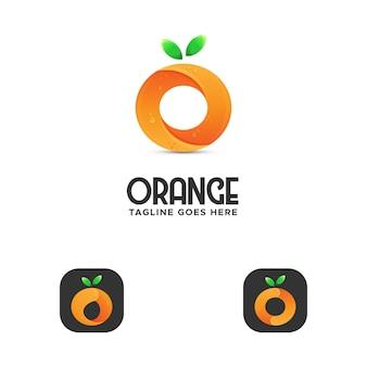Letra o logo naranja