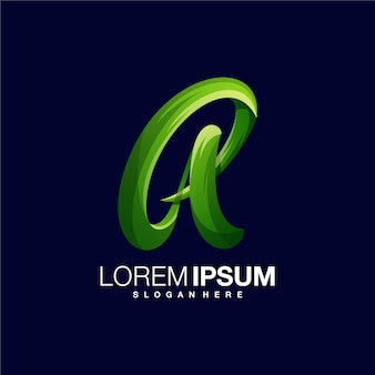 Letra una plantilla de diseño de logotipo degradado