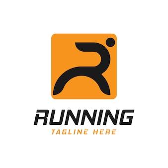 Letra r para correr inspiración en el diseño de logotipos