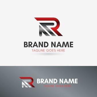 Letra r up arrow logotipo