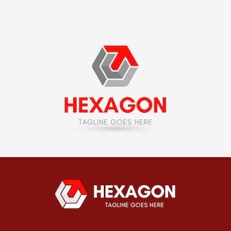 Letra t hexagon logotipo