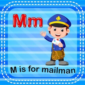 La letra de la tarjeta flash m es para cartero