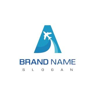 Letra a, tour y logotipo de viaje