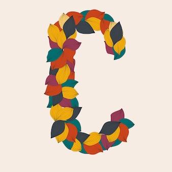 Letras del alfabeto de hojas ilustración
