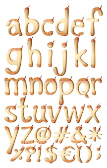 Letras del alfabeto con ilustraciones indias