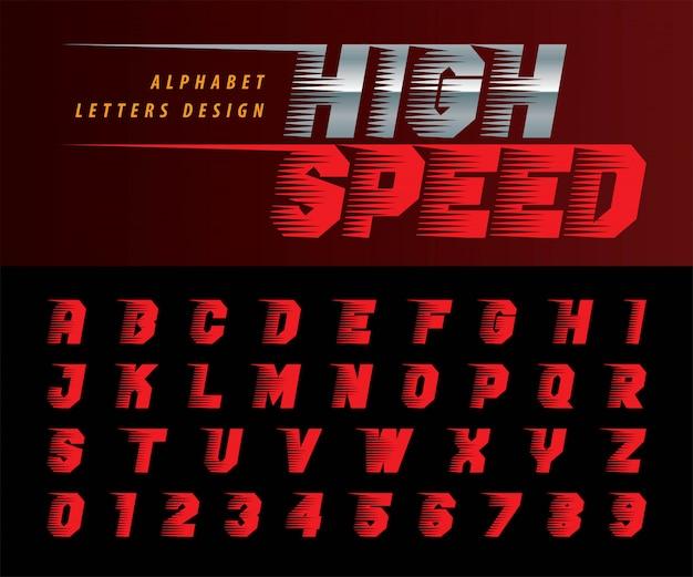 Letras del alfabeto y números