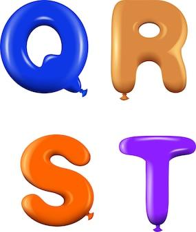 Letras del alfabeto qrst colores