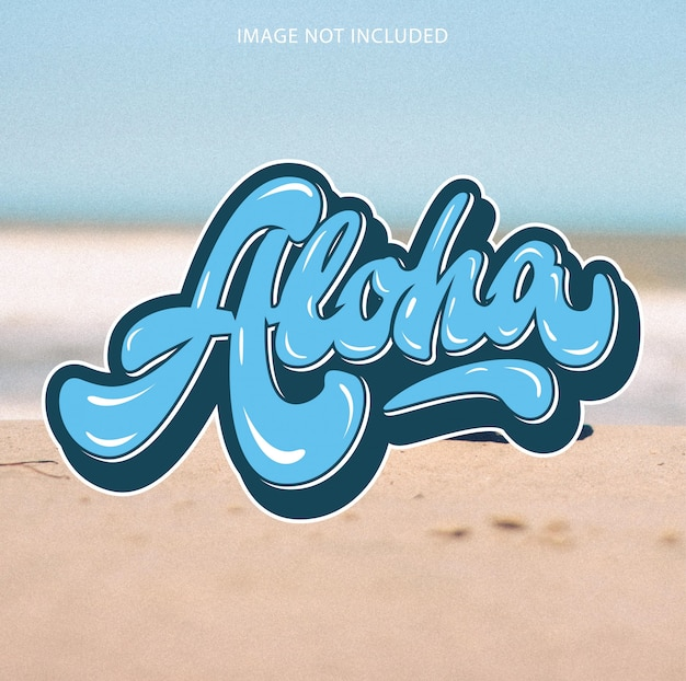 Letras de aloha hawaii