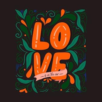 Letras de amor bacwallpaper kground con plantas