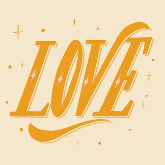 Letras de amor en cursiva