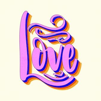 Letras de amor en estilo vintage