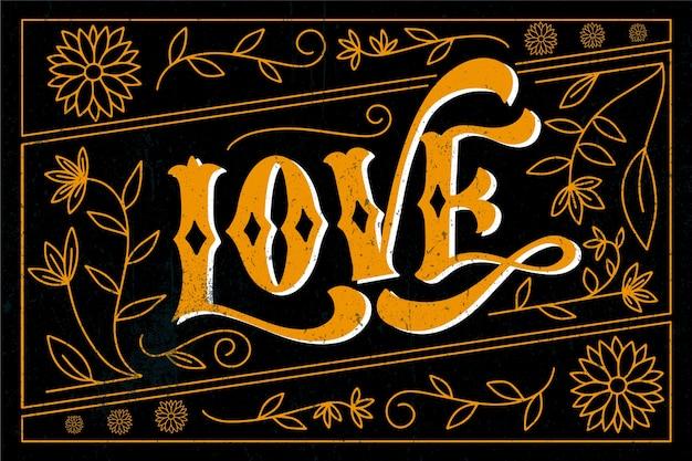 Letras de amor de estilo vintage