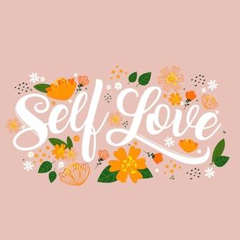 Letras de amor propio con flores
