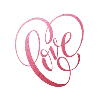 Letras de amor.